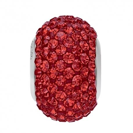 Korálky SWAROVSKI BECHARMED - Pavé červená Light Siam 14mm