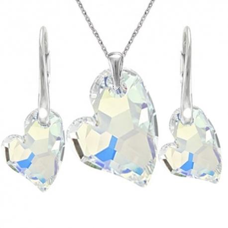Set srdce devoted2U crystal AB