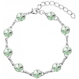 Náramok  Swarovski elements 10mm rivoli zelený – Chrysolite