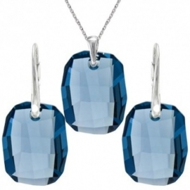Set  Swarovski elementsGraphic modrý DENIM BLUE 19mm