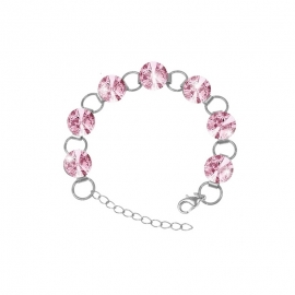 Náramok Swarovski 10mm rivoli – Light Rose