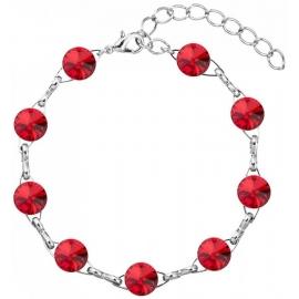 Náramok  Swarovski elements10mm rivoli červený – Siam