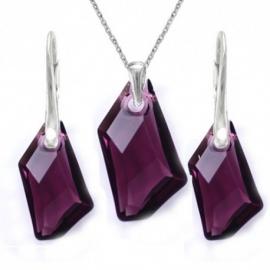 Set šperkov Swarovski elements De-Art fialový AMETHYST 18mm