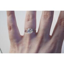 Rhódiovaný prsteň s kryštáľom Swarovski Cube 6mm