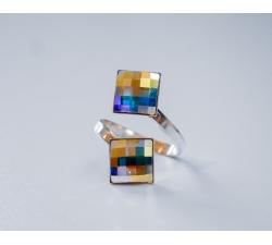 Swarovski prsteň 2x10mm Crystal AB