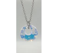 Oceľový náhrdelník s príveskom Swarovski Victory vo farbe Crystal AB