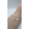 Strieborný náramok s príveskom Swarovski Cosmic Ring vo farbe Crystal AB
