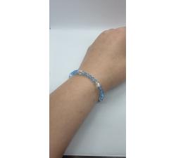 Krásny modrý náramok Swarovski elements Xilion – Aquamarine