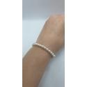 Perlový náramok Swarovski perličky biele