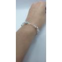 Kryštáľový náramok swarovski korálky crystal ab strieborné rondelky