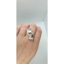 Swarovski prsteň 2x10mm - strieborny