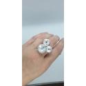 Strieborný prsteň so Swarovski kryštálmi Rivoli