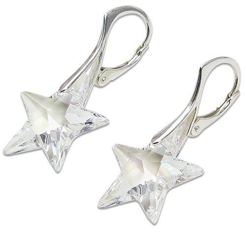Náušnice hviezdy crystal