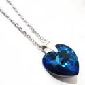 Náhrdelník Swarovski elemetns srdce modré bb