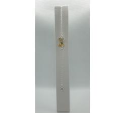 Strieborný náramok s ozdobou Swarovski mašľa zlatá Metallic Sunshine