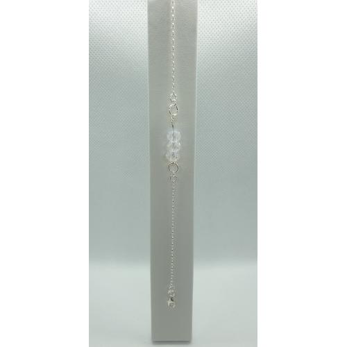 Strieborný náramok s ozdobou Swarovski briolette metallic sunshine
