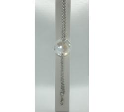 Oceľový náramok s ozdobou Swarovski element Twist biela Moonlight 28mm