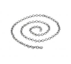 Dámska oceľová retiazka Rolo 50cm