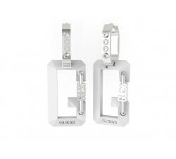 Náušnice Guess UBE70086 SNAP biele