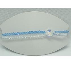 Krásny double modročíry náramok Swarovski elements Xilion