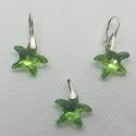 Set Swarovski elements Starfish Peridot