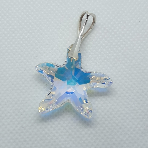Prívesok Swarovski elements starfish crystal ab