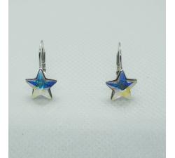 nausnice swarovski hviezda crystal ab