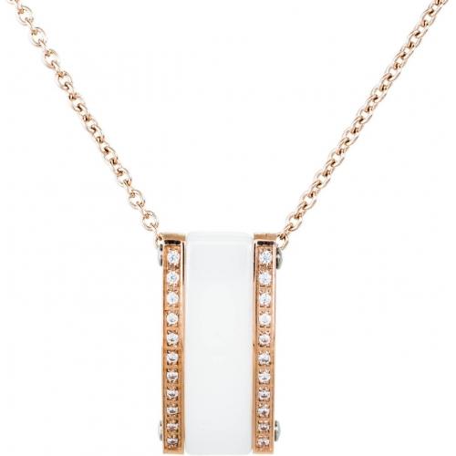 DN068 - náhrdelník oceľ a keramika