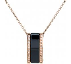 DN069 - náhrdelník oceľ a keramika