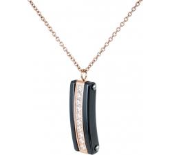 DN073 - náhrdelník oceľ a keramika