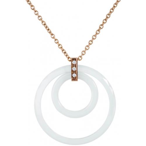 DN074 - náhrdelník oceľ a keramika