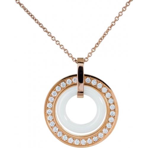 DN077 - náhrdelník oceľ a keramika