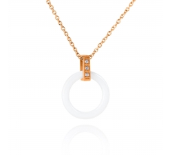 DS146 - náhrdelník oceľ a keramika