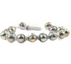 PB019 - náramok riečne perly