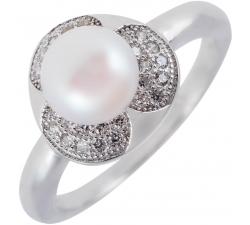 Strieborný prsteň s výraznou perlou SMP02R , AG 925/1000