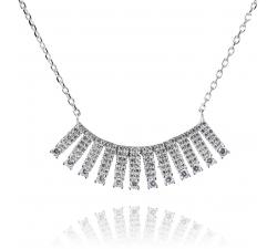 Strieborný náhrdelník AG 925/1000 s desiatkami zirkónov SN018