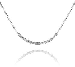 Strieborný náhrdelník AG 925/1000 s oblúkom zdobeným zirkónmi SN023