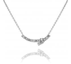 Strieborný náhrdelník AG 925/1000 zdobený zirkónmi SN024
