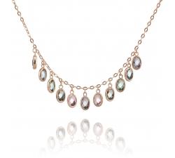 SN046 - náhrdelník AG 925/1000 - mix - ružová