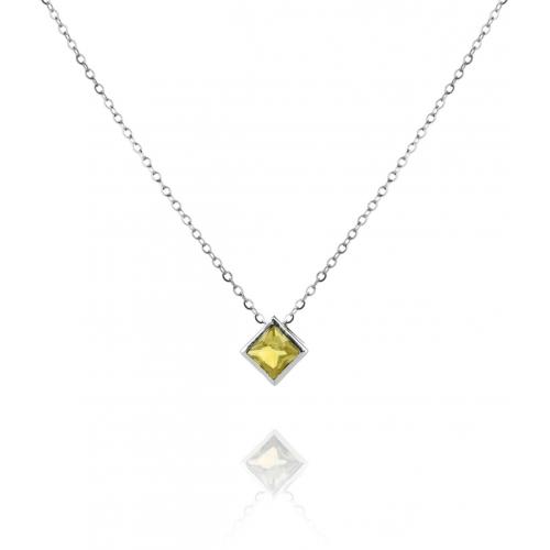 SN048 - náhrdelník AG 925/1000 - žltá