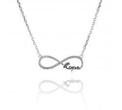 Strieborný náhrdelník HOPE so zirkónmi SN059, AG 925/1000