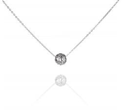 SN077 - náhrdelník AG 925/1000 ZDOBENÝ ZIRKÓNOVOU GULIČKOU