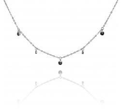 Strieborný náhrdelník so zirkónmi SN089, AG 925/1000