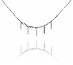 Strieborný náhrdelník s visiacimi zirkónovými tyčinkami SN099 , AG 925/1000