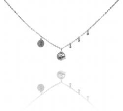 Strieborný náhrdelník s ozdobami SN103 , AG 925/1000