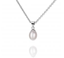Jednoduchý strieborný prívesok s perlou SP69P , AG 925/1000