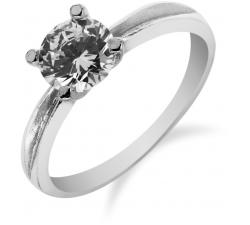 Elegantný strieborný prsteň so zirkonom SR038 , AG 925/1000