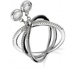 Extravagantný strieborný prsteň SR054 , AG 925/1000