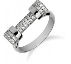 Výrazný strieborný prsteň zdobený zirkonmi SR056 , AG 925/1000