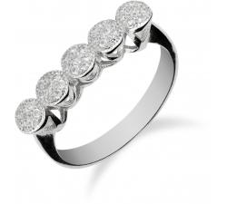 Výrazný strieborný prsteň zdobený zirkonmi SR059 , AG 925/1000